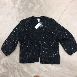 NWT Chico's Sequin Knit Sweater